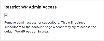 How Can I Restrict Members From Accessing The Admin Area